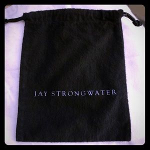Jay Strongwater Black Flannel Dustbag